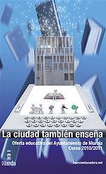 """Portada guía """"La ciudad también enseña"""" curso 2010-2011"""